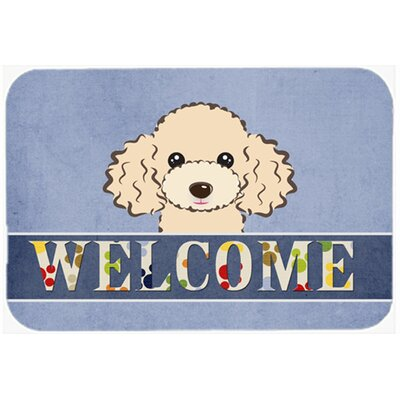 Poodle Welcome Kitchen/Bath Mat Color: Buff, Size: 24 W x 36 L