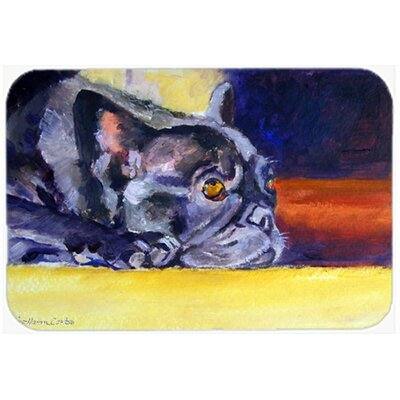 French Bulldog Sunny Kitchen/Bath Mat Size: 20 W x 30 L