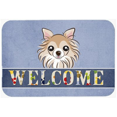 Chihuahua Welcome Kitchen/Bath Mat Size: 20 W x 30 L