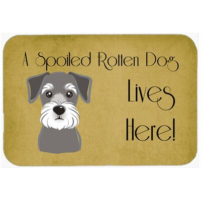 Schnauzer Spoiled Dog Lives Here Kitchen/Bath Mat Size: 24 W x 36 L