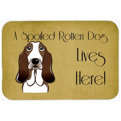Basset Hound Spoiled Dog Lives Here Kitchen/Bath Mat Size: 24 W x 36 L