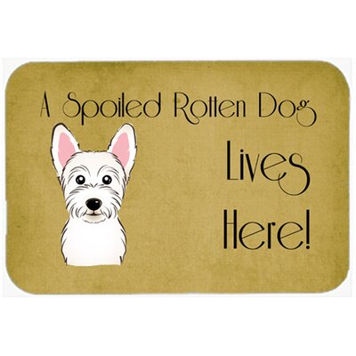 Westie Spoiled Dog Lives Here Kitchen/Bath Mat Size: 24 W x 36 L