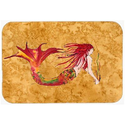 Ginger Headed Mermaid Kitchen/Bath Mat Size: 24 W x 36 L