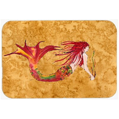 Ginger Headed Mermaid Kitchen/Bath Mat Size: 20 W x 30 L