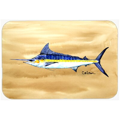 Swordfish on Sandy Beach Kitchen/Bath Mat Size: 20 W x 30 L