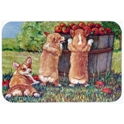 Apple Helper Corgis Kitchen/Bath Mat Size: 20 W x 30 L