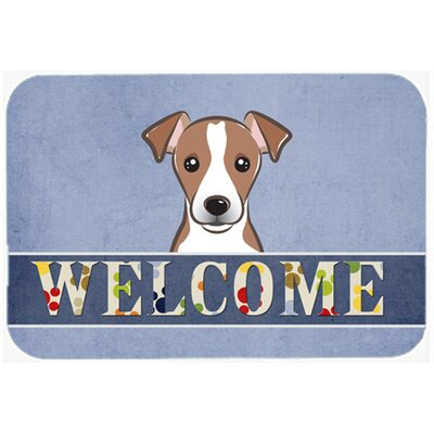 Jack Russell Terrier Welcome Kitchen/Bath Mat Size: 24 W x 36 L, Color: Brown