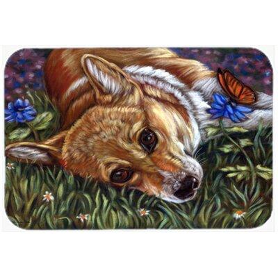 Corgi Pastel Butterfly Kitchen/Bath Mat Size: 20 W x 30 L