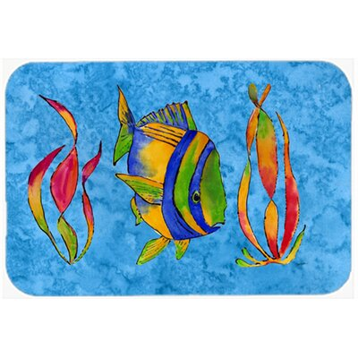 Troical Fish and Seaweed Kitchen/Bath Mat Size: 24 W x 36 L