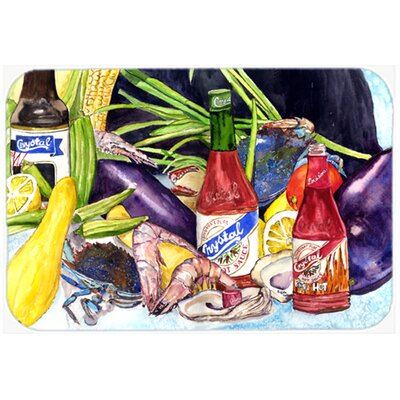Crystal Hot Sauce with Seafood Kitchen/Bath Mat Size: 24 W x 36 L