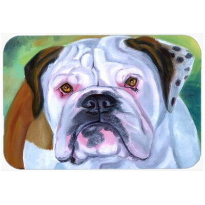 English Bulldog Kitchen/Bath Mat Size: 20 W x 30 L