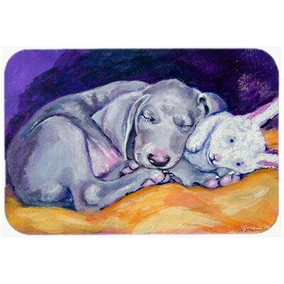 Weimaraner Snuggle Bunny Kitchen/Bath Mat Size: 24 W x 36 L