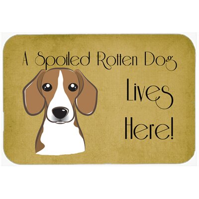 Beagle Spoiled Dog Lives Here Kitchen/Bath Mat Size: 24 W x 36 L