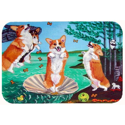 Corgi Birth of Venus Kitchen/Bath Mat Size: 24 W x 36 L