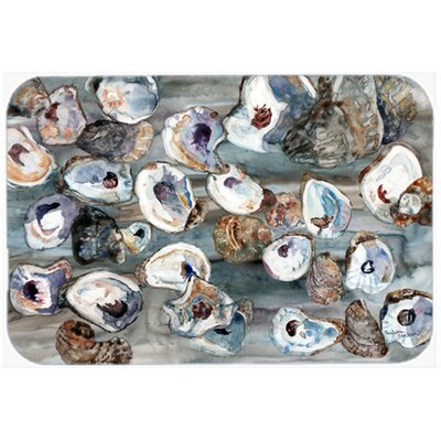 Bunch of Oysters Kitchen/Bath Mat Size: 24 W x 36 L