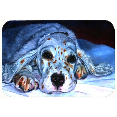 English Setter Pup Kitchen/Bath Mat Size: 24 W x 36 L