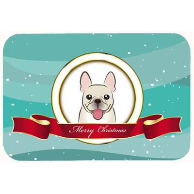 French Bulldog Merry Christmas Kitchen/Bath Mat Size: 24 W x 36 L