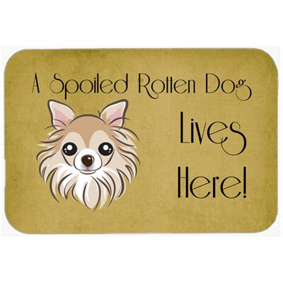 Chihuahua Spoiled Dog Lives Here Kitchen/Bath Mat Size: 24 W x 36 L