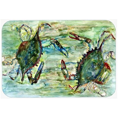 Crab Standoff Kitchen/Bath Mat Size: 24 W x 36 L