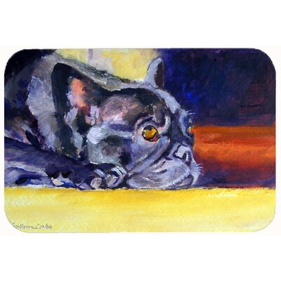 French Bulldog Sunny Kitchen/Bath Mat Size: 24 W x 36 L