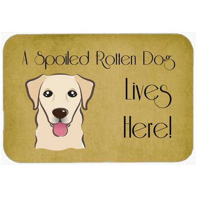 Retriever Spoiled Dog Lives Here Kitchen/Bath Mat Size: 20 W x 30 L