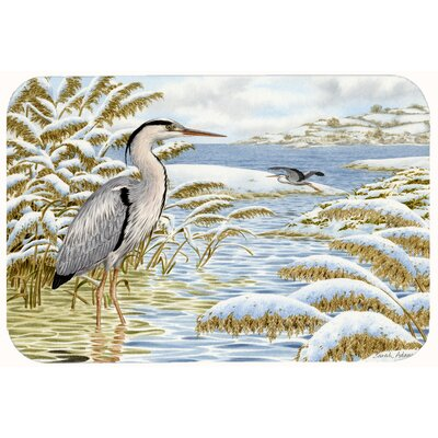 Heron by the Water Kitchen/Bath Mat Size: 24 W x 36 L
