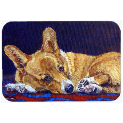 Corgi Lonesome Kitchen/Bath Mat Size: 20 W x 30 L