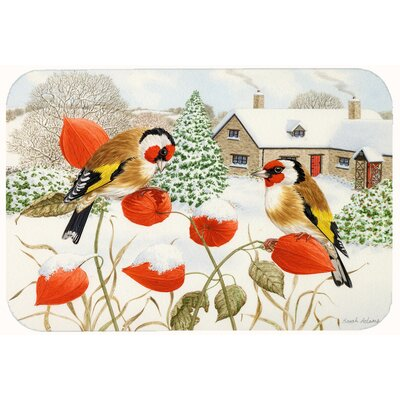 European Goldfinches Kitchen/Bath Mat Size: 24 W x 36 L