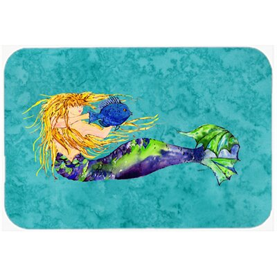 Blonde Mermaid Kitchen/Bath Mat Size: 24 W x 36 L