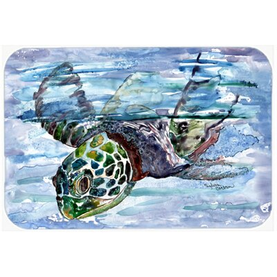 Loggerhead Turtle in a Dive Kitchen/Bath Mat Size: 24 W x 36 L