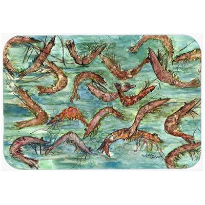 Catch of Shrimp Kitchen/Bath Mat Size: 24 W x 36 L