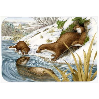 Playtime Otters Kitchen/Bath Mat Size: 20 W x 30 L