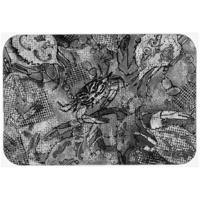 Canvas Abstract Crabs Kitchen/Bath Mat Size: 24 W x 36 L