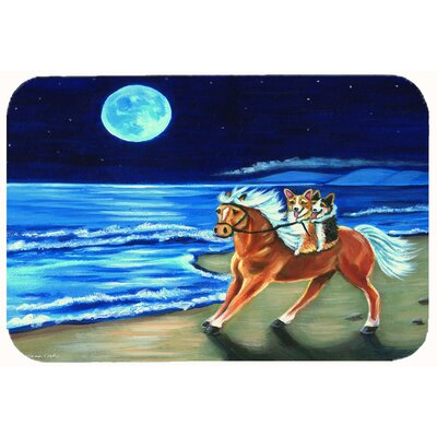 Corgi Beach Ride on Horse Kitchen/Bath Mat Size: 24 W x 36 L