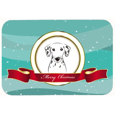 Dalmatian Merry Christmas Kitchen/Bath Mat Size: 24 W x 36 L