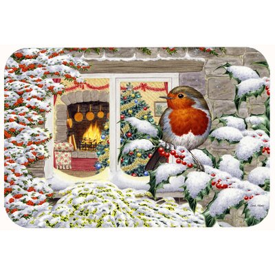 European Robin Kitchen/Bath Mat Size: 24 W x 36 L