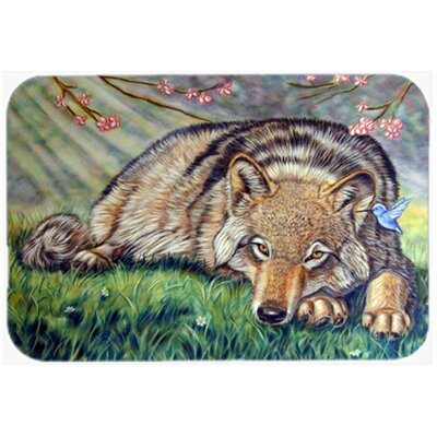 Wolf and Hummingbird Kitchen/Bath Mat Size: 20 W x 30 L