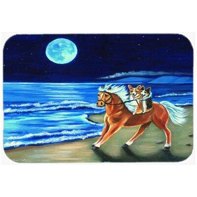 Corgi Beach Ride on Horse Kitchen/Bath Mat Size: 20 W x 30 L