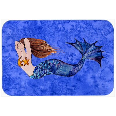 Brunette Mermaid Kitchen/Bath Mat Size: 24 W x 36 L