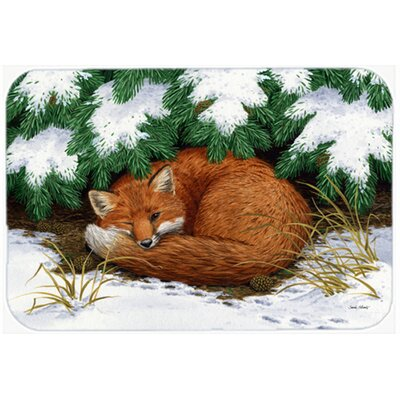 Naptime Fox Kitchen/Bath Mat Size: 20 W x 30 L