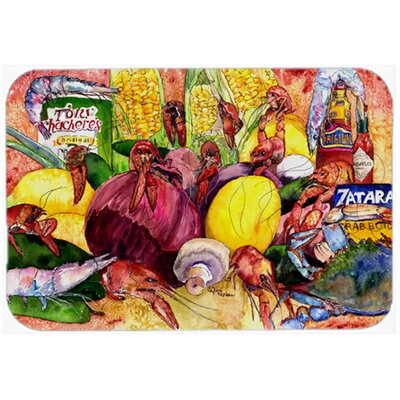 Crawfish with Spices and Corn Kitchen/Bath Mat Size: 20 W x 30 L