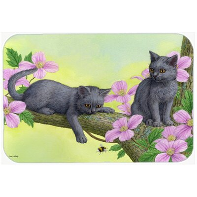 Chartruex Kittens Kitchen/Bath Mat Size: 20 W x 30 L