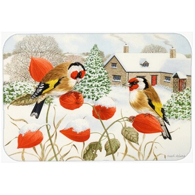 European Goldfinches Kitchen/Bath Mat Size: 20 W x 30 L