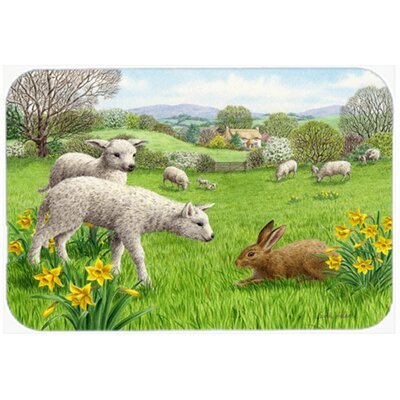 Lambs, Sheep and Rabbit Hare Kitchen/Bath Mat Size: 20 W x 30 L