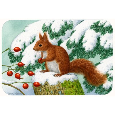 Winter Squirrel Kitchen/Bath Mat Size: 24 W x 36 L