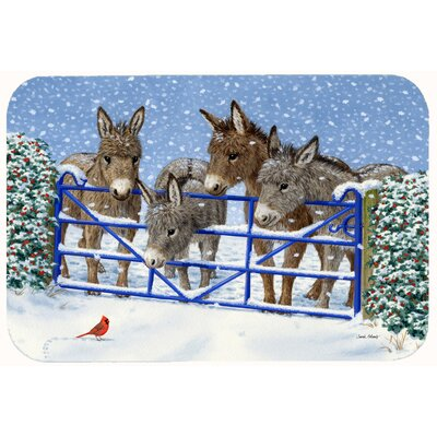 Donkeys and Cardinal Kitchen/Bath Mat Size: 24 W x 36 L