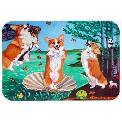 Corgi Birth of Venus Kitchen/Bath Mat Size: 20 W x 30 L