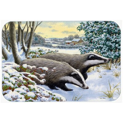 Winter Badgers Kitchen/Bath Mat Size: 20 W x 30 L