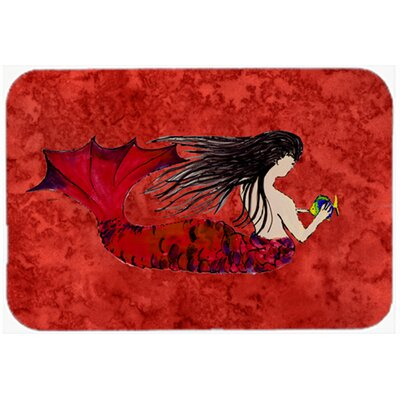 Haired Mermaid Kitchen/Bath Mat Size: 24