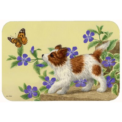 Papillon Pup Kitchen/Bath Mat Size: 24